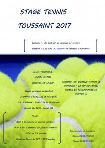 Stages Loisirs Côté Club Toussaint 2017 au Set Club